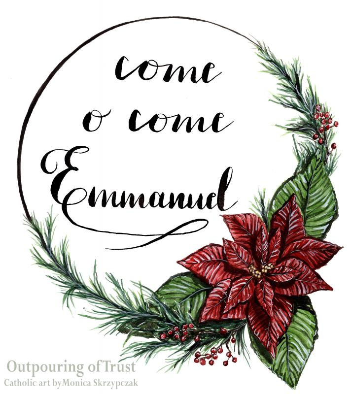Come O Come Emmanuel Wreath
